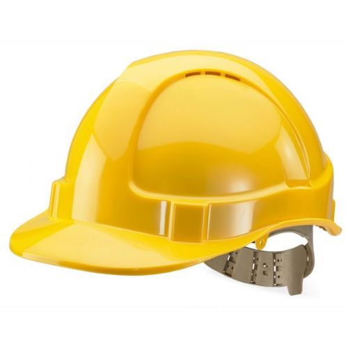 Click B-Brand Vented Yellow Safety Helmet